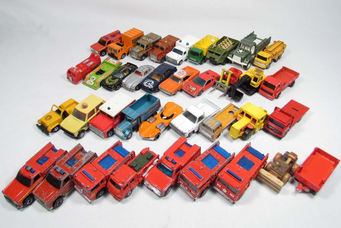 Vintage Matchbox Vehicles, Set of 48 in a 1970's Travel