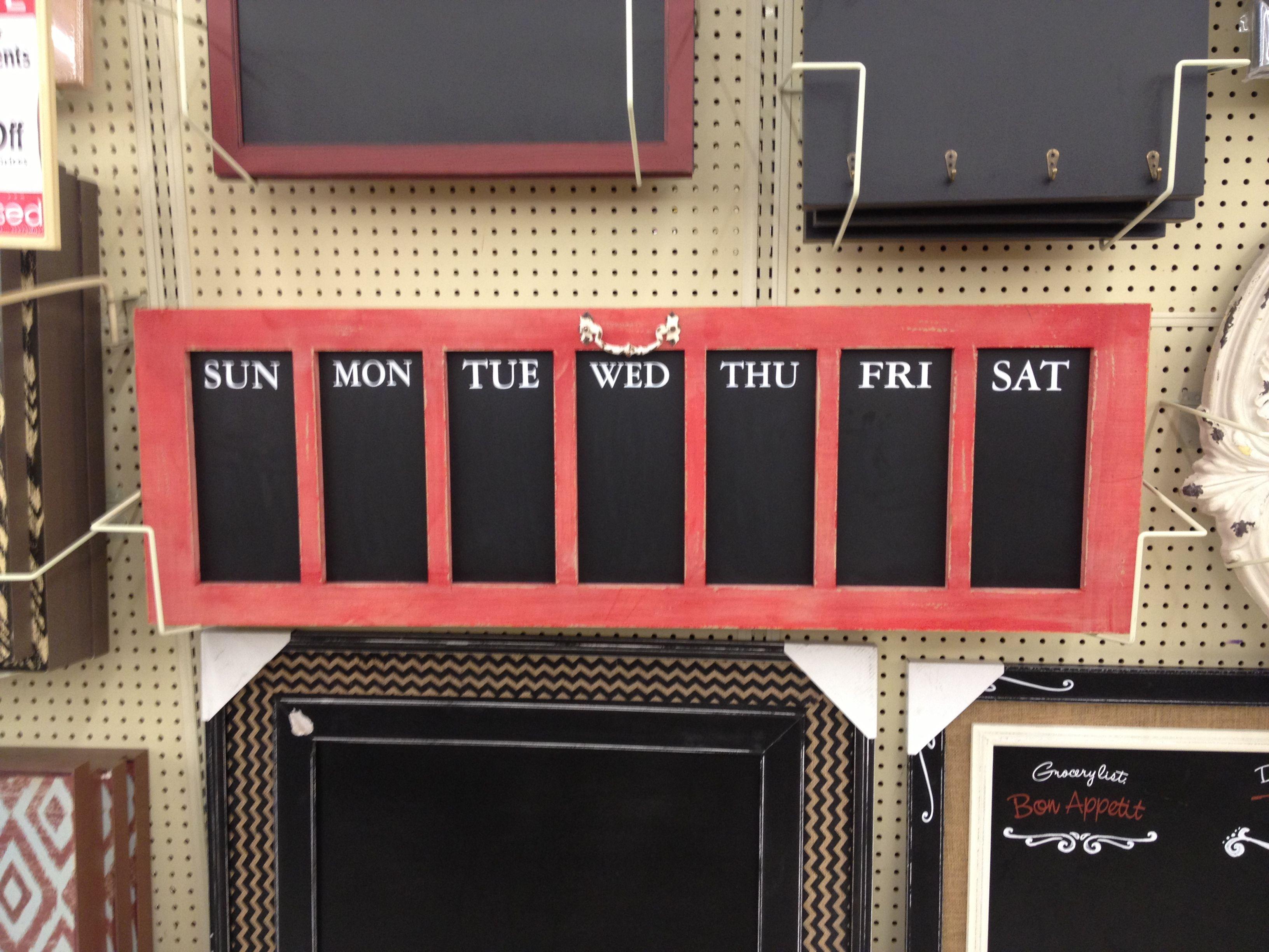 Hobby Lobby chalkboard calendar