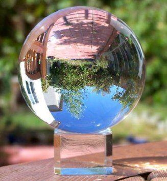 Meditation Ball Globe 80 Mm, Clear, Free Crystal Stand