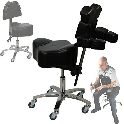 Brand New Inkbed Patented Adjustable Ergonomic Chair Stool Chest Back Rest Support Tattoo Studio Equipment Black Tattoo Chair Tattoo Studio Ergonomic Chair