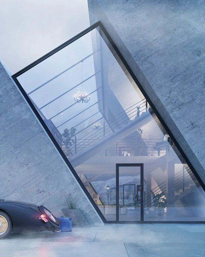 Futuristic Pyramid House Design