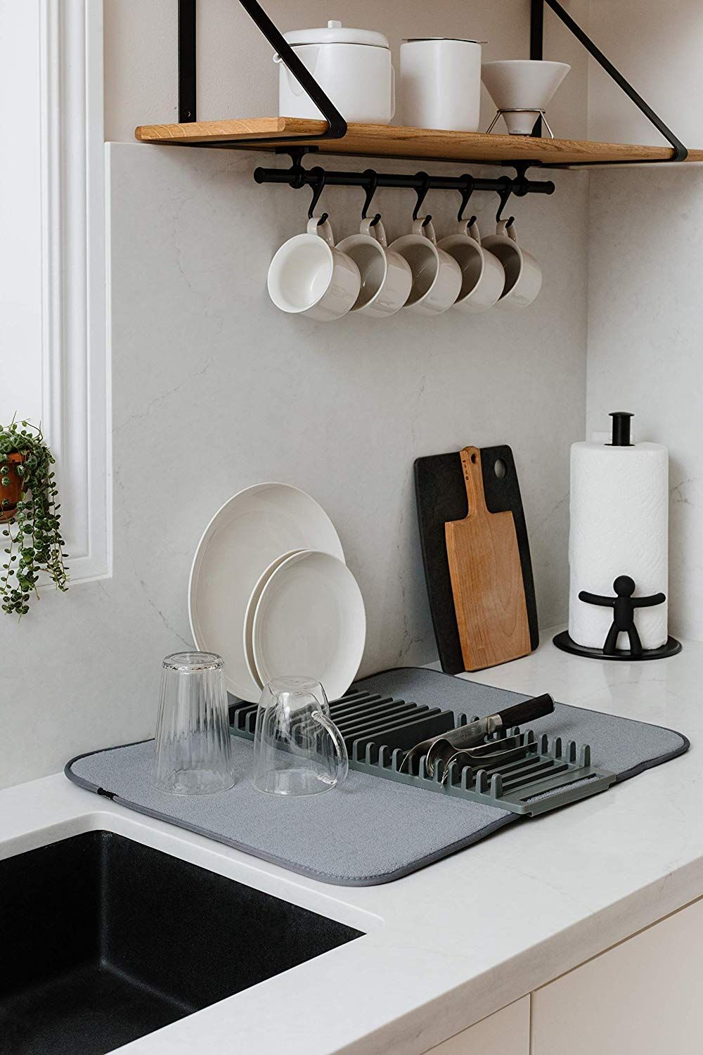 Simple Kitchen Simple Storage Dish Drying Mat Tiny House Kitchen