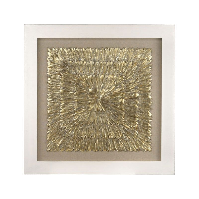 "Gold Feather Spaturral - 55"" Square"