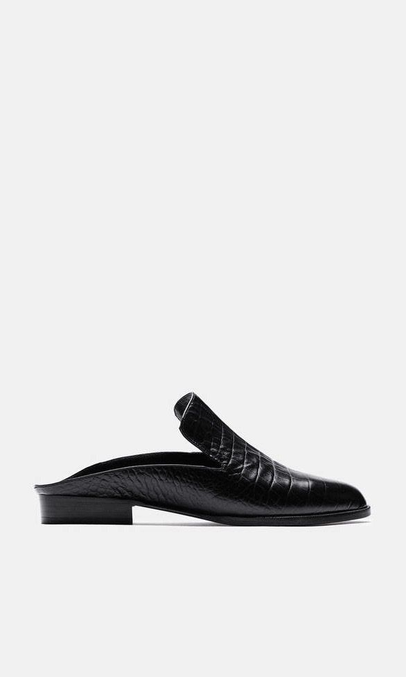 Clergerie Black Croc-Embossed Alice Slip-On Loafers 7ft6PYR9tL