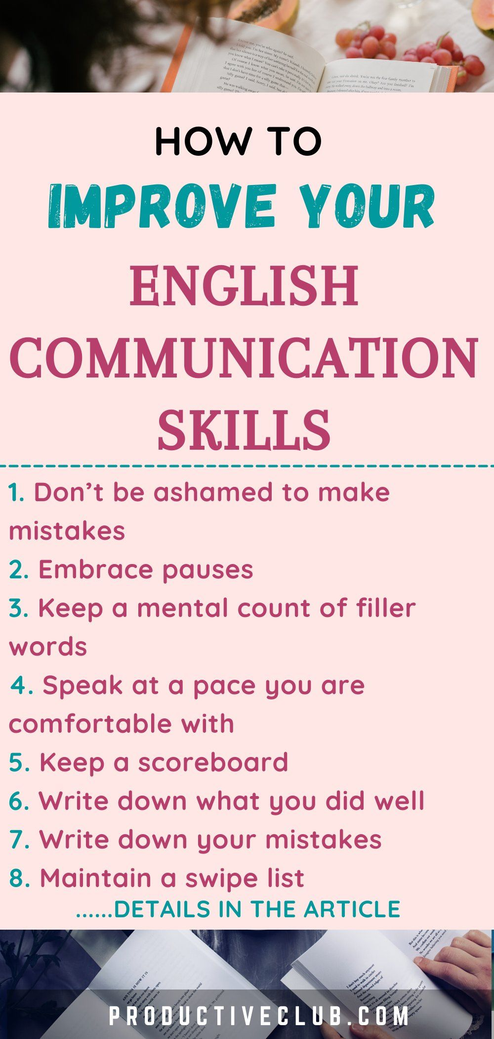 How To Improve Your English Communication Skills Self Improvement In 2021 English Communication Skills Communication Skills English Speaking Skills
