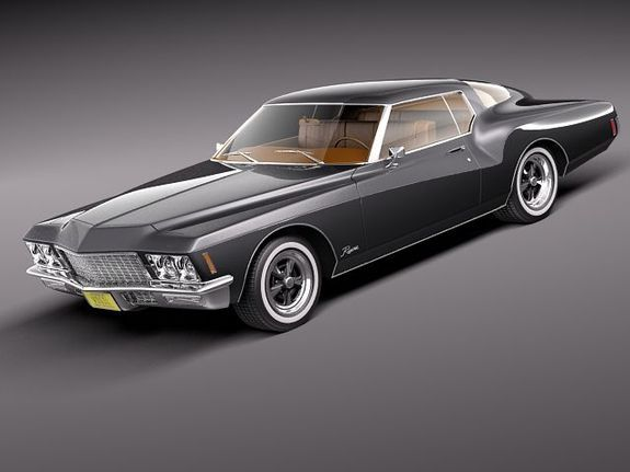 buick riviera gs boattail 1971 3d model buick riviera buick vintage cars pinterest