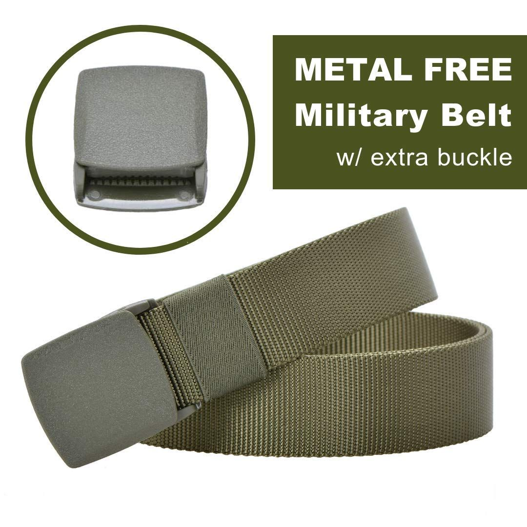 MiDezigns Airport Friendly Metal Free Nylon Hypoallergenic Military  Tactical Belt for Men and Women Military Green    Find out more by seeing  the image web ... b2ba988950