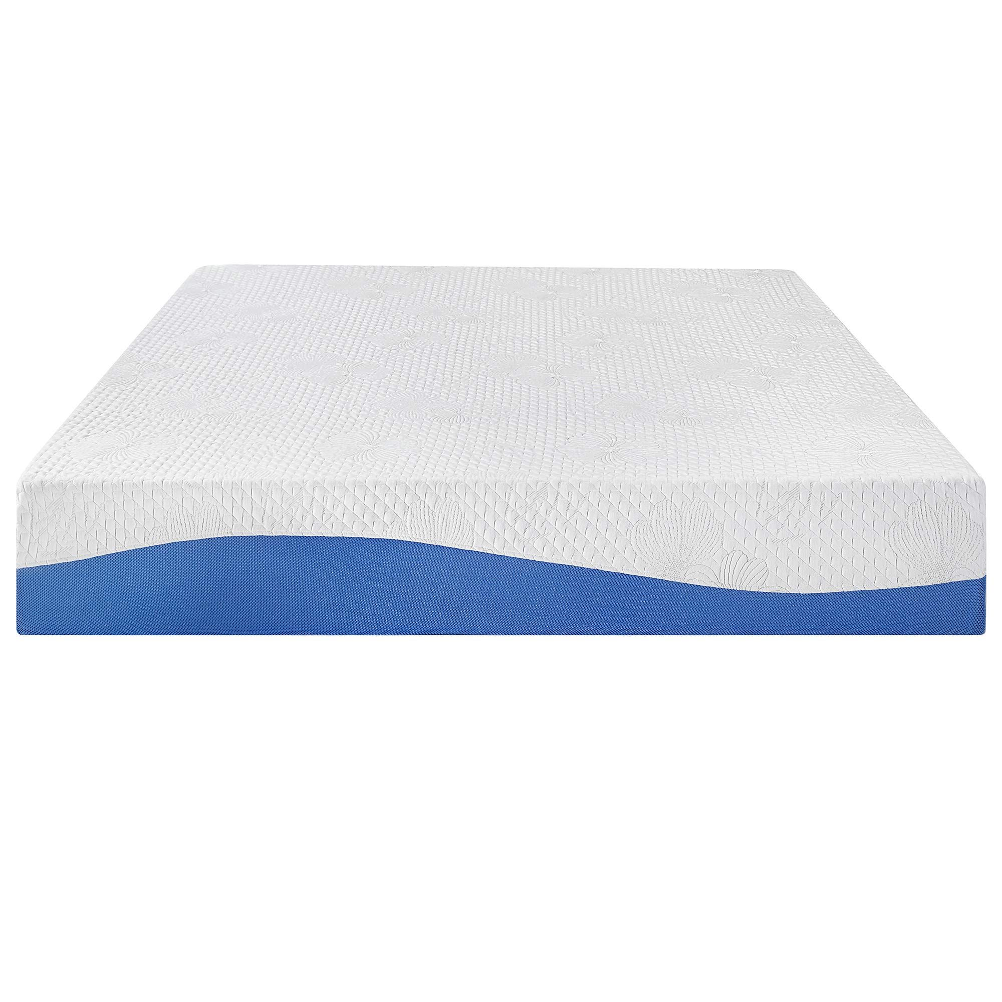 Olee Sleep 10 Inch Cool I Gel Infused Memory Foam Mattress Blue Full Be Sure To Check Out This Awesom Top Memory Foam Mattress Mattress Memory Foam Mattress
