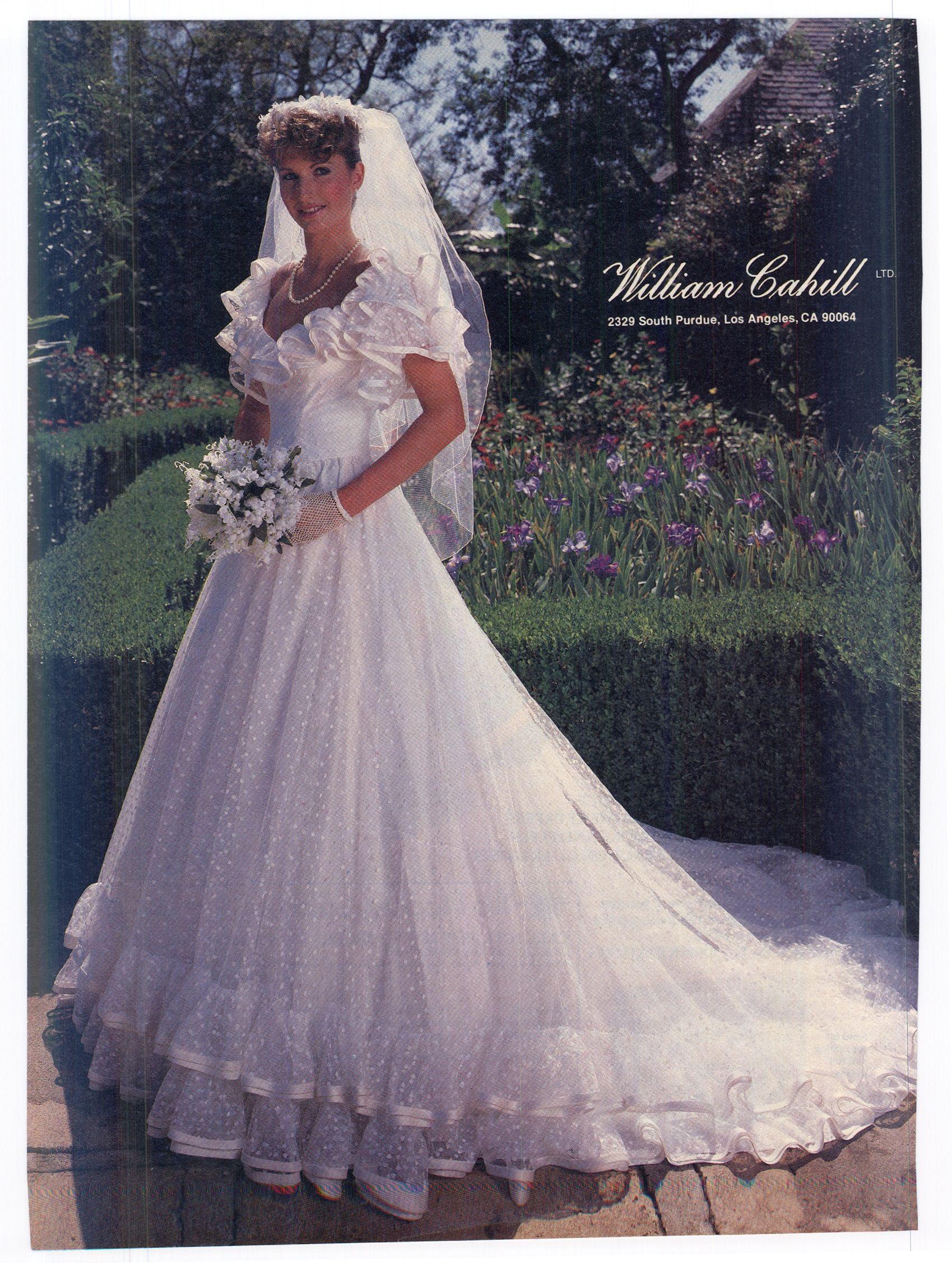 0127419f6db0d William Cahill 1984 1980s Wedding Dress
