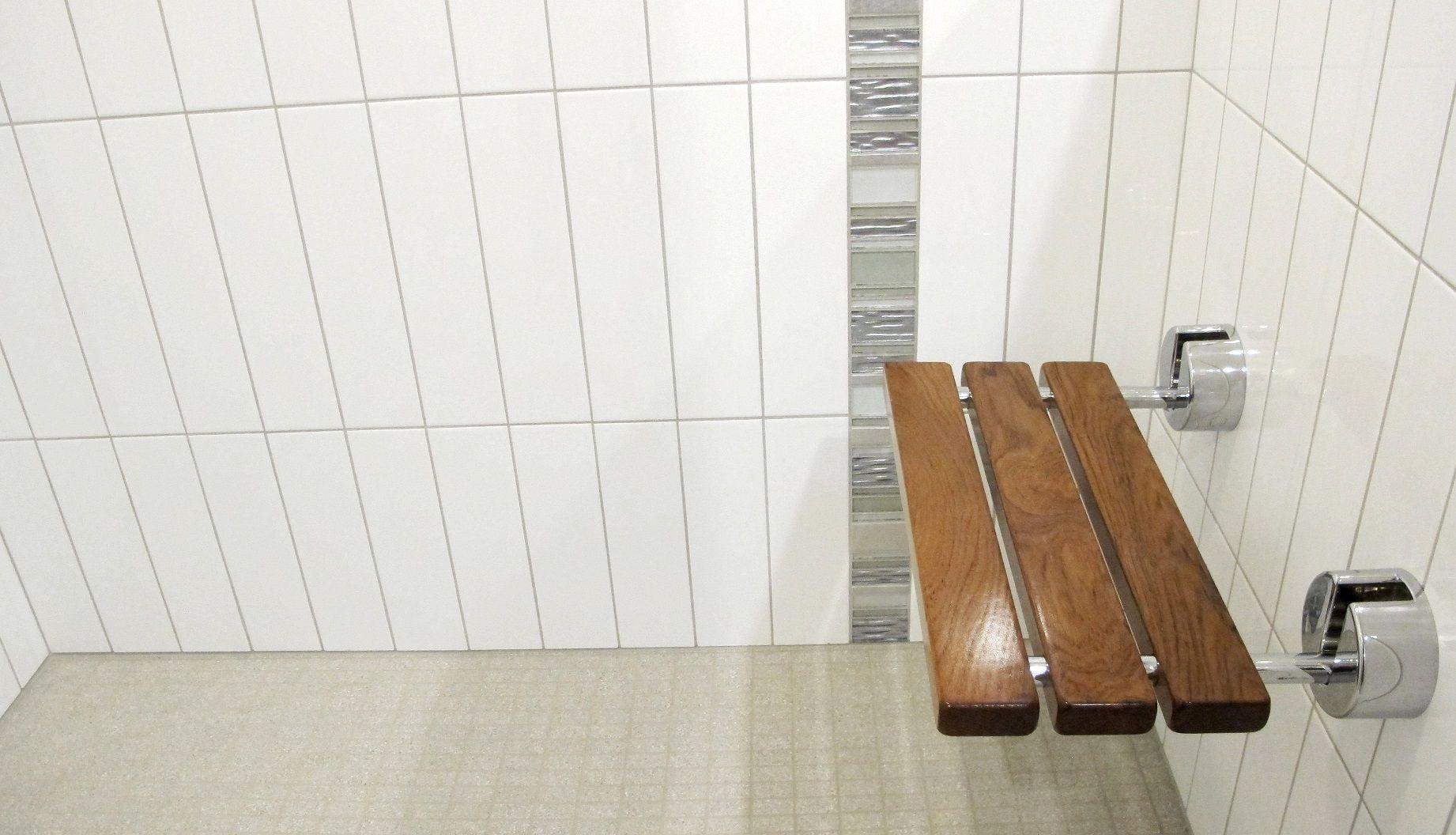 crystile clear white tile shower