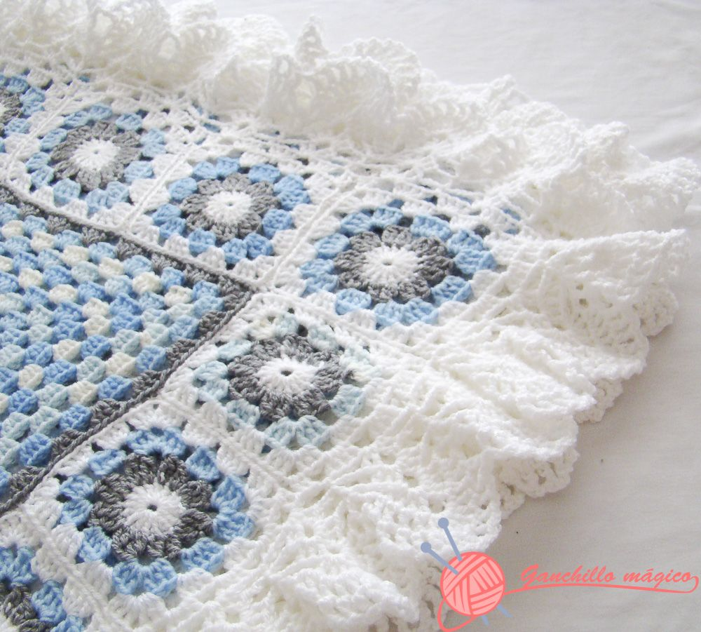 Manta Ganchillo (1) Benjamín | Crochet Cache- Blankets & Squares ...
