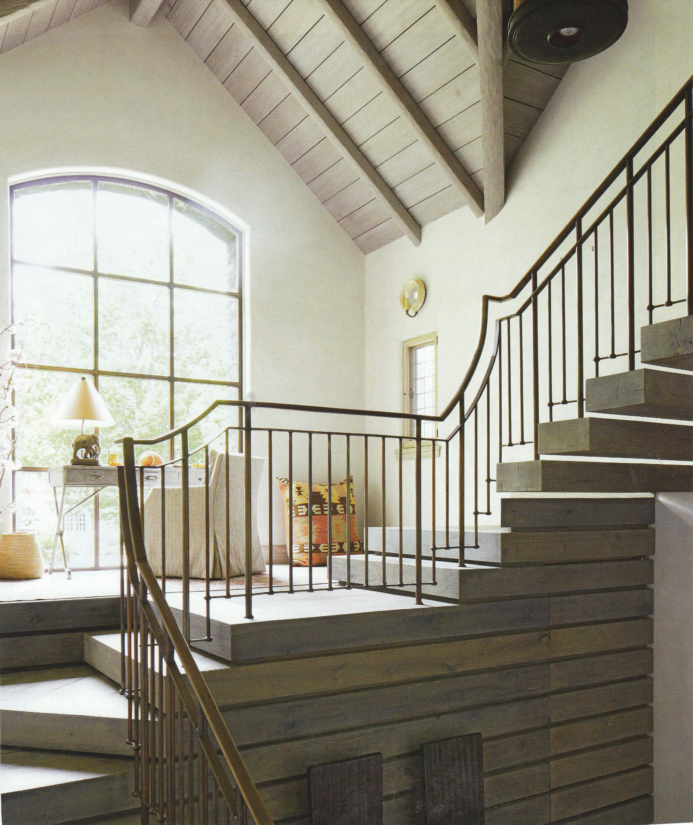 antique brass handrail   Staircase design, Coastal living ...