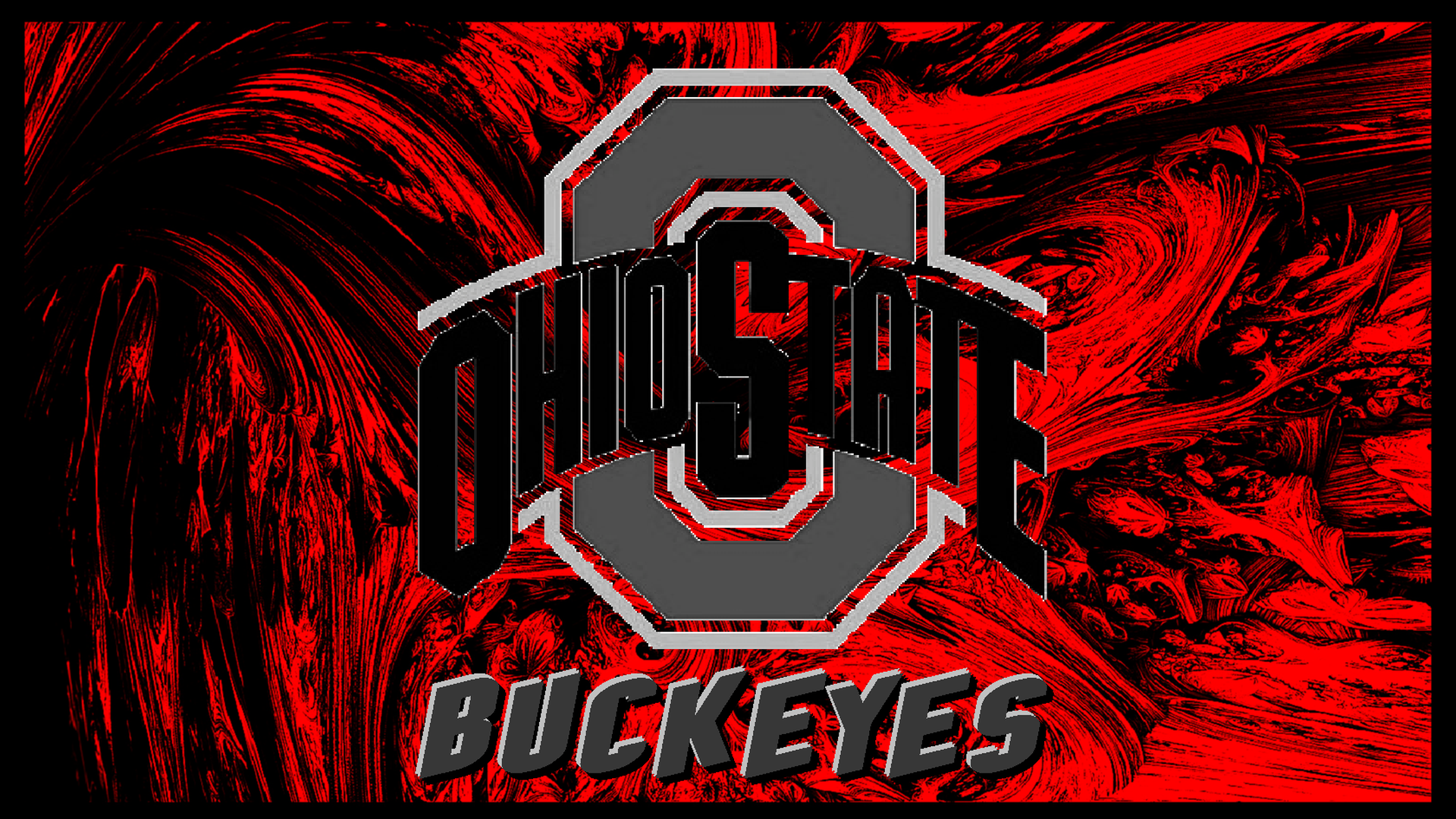 Current Athletic Logo In Gray On An Abstract By Bucks7t2 Ohio State Ohio State Buckeyes Buckeye Nation