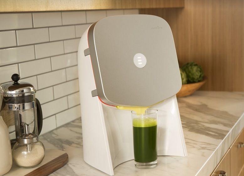 A company has developed a new high-tech juicer that can deliver fresh, organic juice with the simple push of a button.