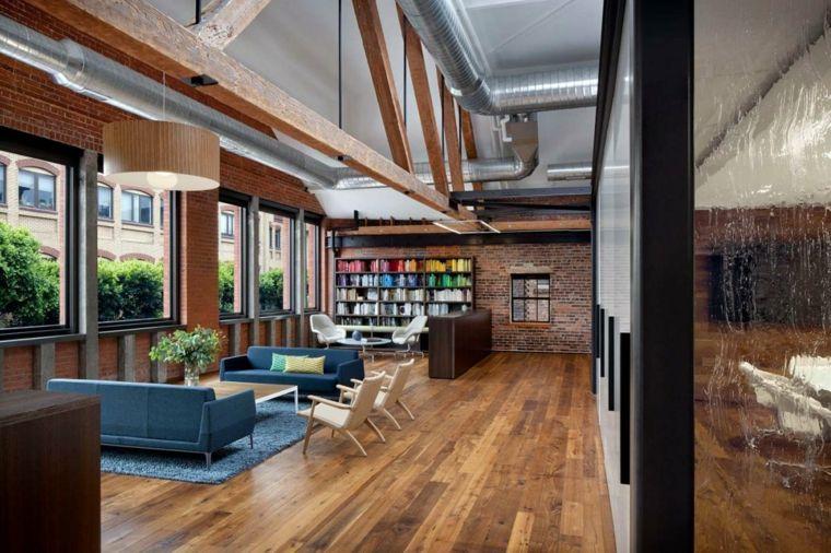 salon diseo moderno mueble biblioteca