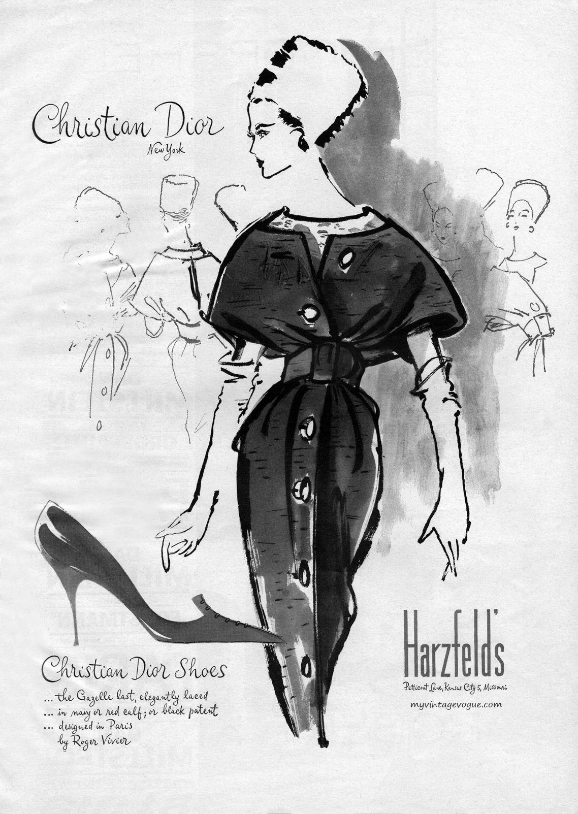 b59c2148a72f Christian Dior 1959   Illustrations   Dior, Fashion, Christian dior