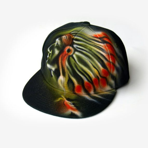 NATIVE American Snapback hat custom hand painted airbrushed baseball cap  GRAFFITI named customized personalized best gift for boy and girl 69165f1f2cc5