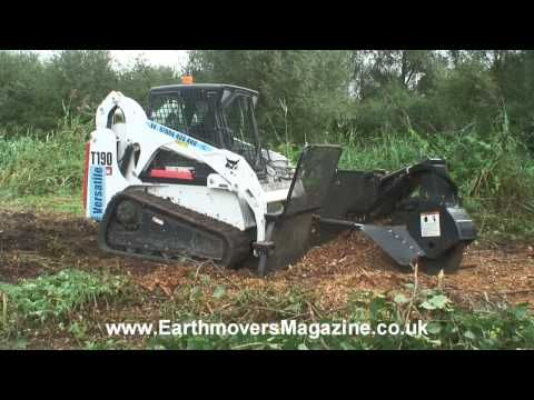Bobcat Stump Grinder Attachment - YouTube | Tractors | Stump grinder
