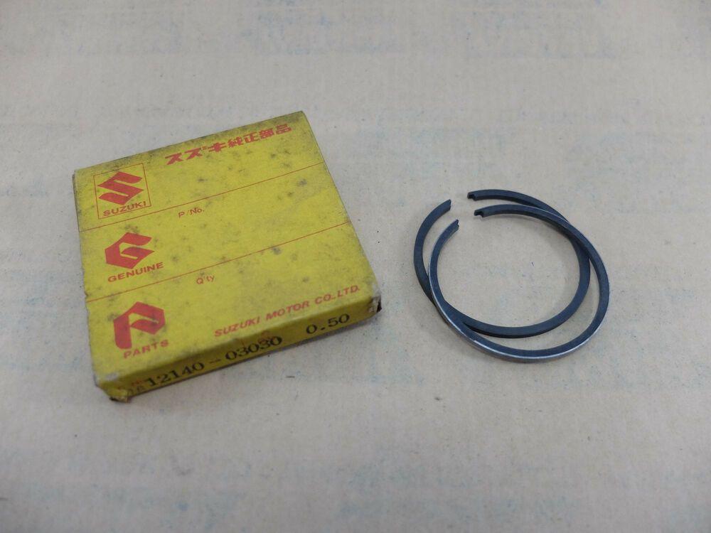 N.O.S. SUZUKI 12140-02B10 PISTON RINGS