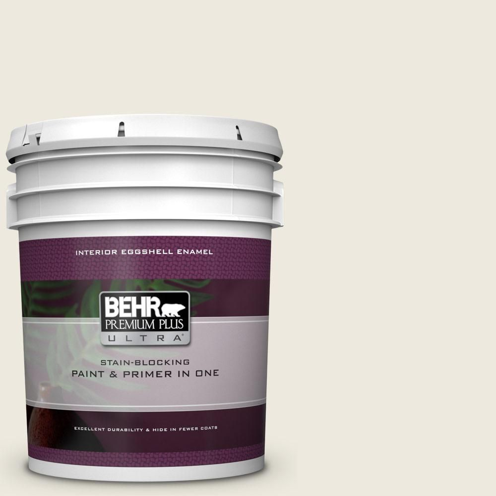 Behr Premium Plus Ultra 5 Gal 720c 1 White Truffle Eggshell Enamel Interior Paint And Primer In One Exterior Wood Stain Interior Paint Exterior Paint