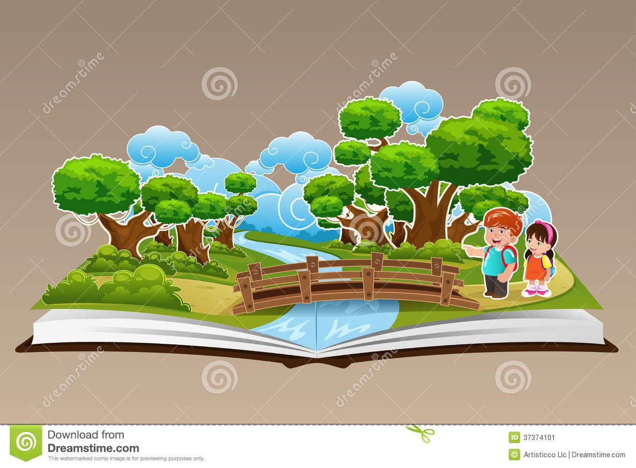Pop Up Book Forest Theme Vector Illustration 37374101 Jpg 1300 957 Diy Pop Up Book Pop Up Book Forest Theme