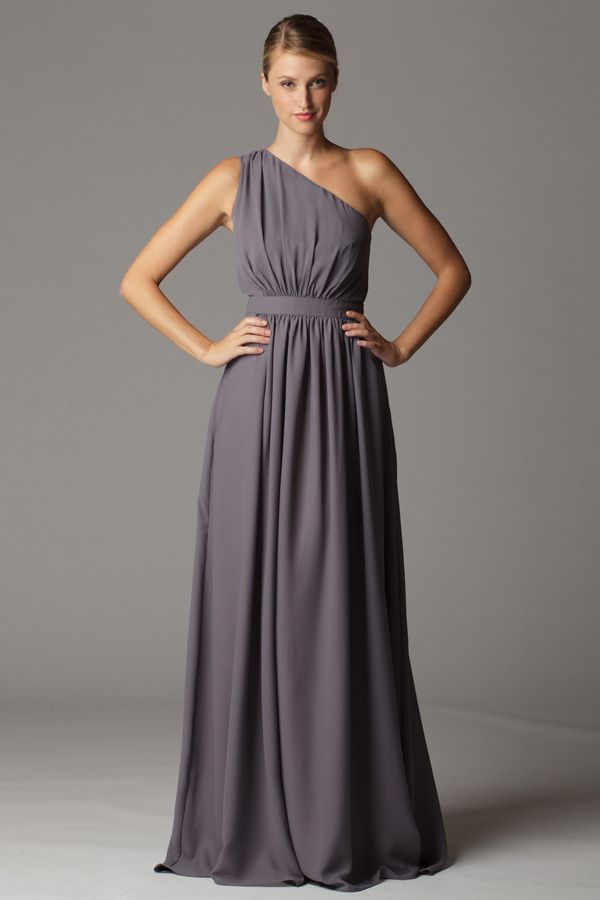 0d23c0a26ce7 long, neutral, easy - Gathered one shoulder bridesmaid dress with built in  waistband. Aria Bridesmaid Dresses Collection — Tulle Tales ...