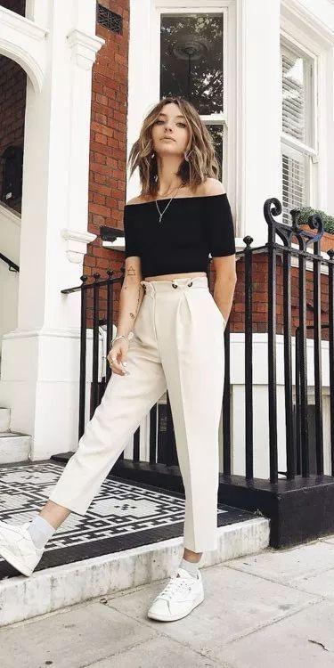 10 Formas De Usar Pantalones Anchos Sin Verte Gorda Ropa Moda De Ropa Ropa De Moda