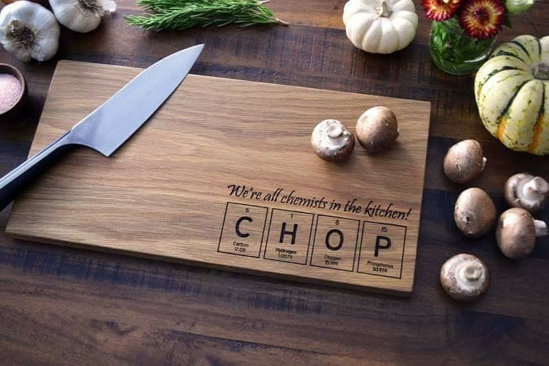 Pin by minoo afshar on chemistry pinterest chemist engraved cutting board periodic table of the elements tiles chop science gift for the kitchen chemist geekery science art urtaz Image collections