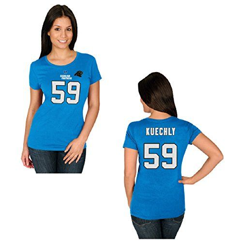 Luke Kuechly Womens Electric Blue Fair Catch Jersey Name   Number T-shirt  XX- 4849120d3