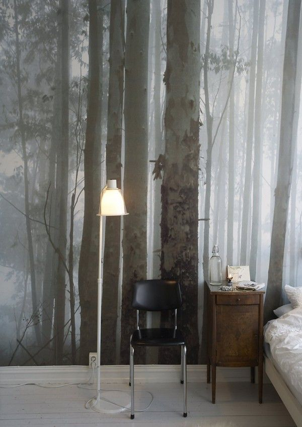 Create an atmosphere with a large mural - our woodland vintage ...