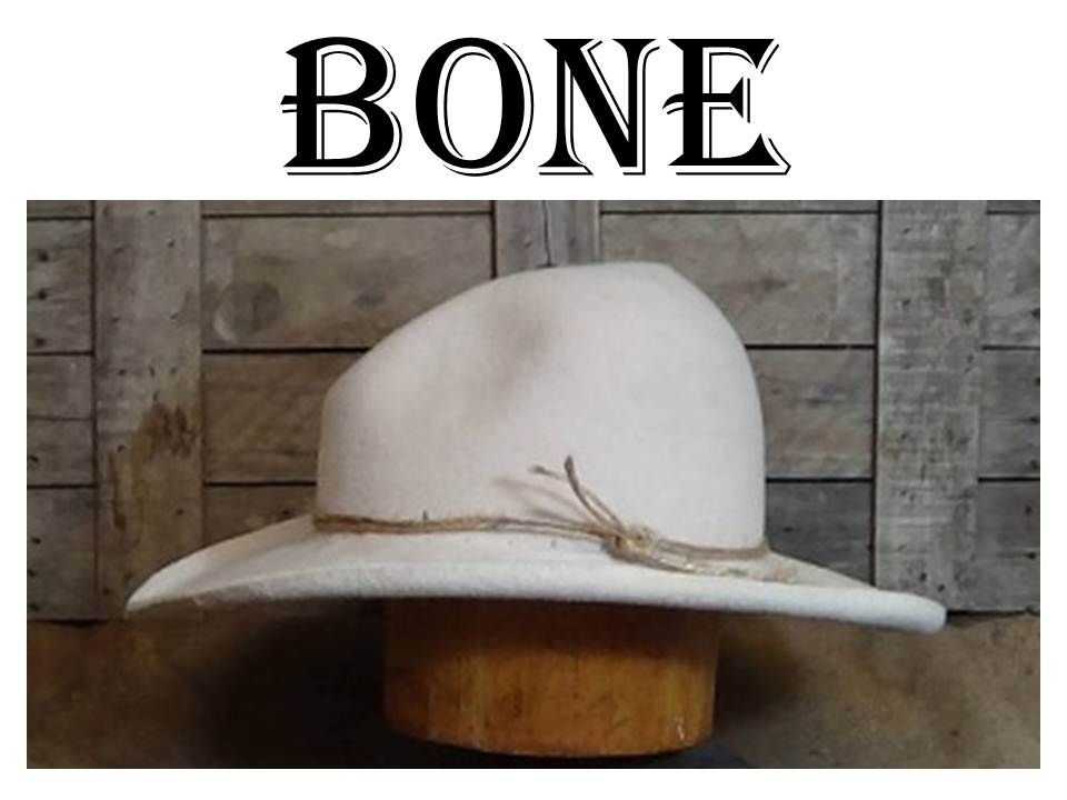 7ab14f93 A custom-fitted, hand-blocked, hand-shaped Buckaroo Cowboy hat in Bone by  legendary hat maker, Lil Grizz of Hats By Grizz, LLC.