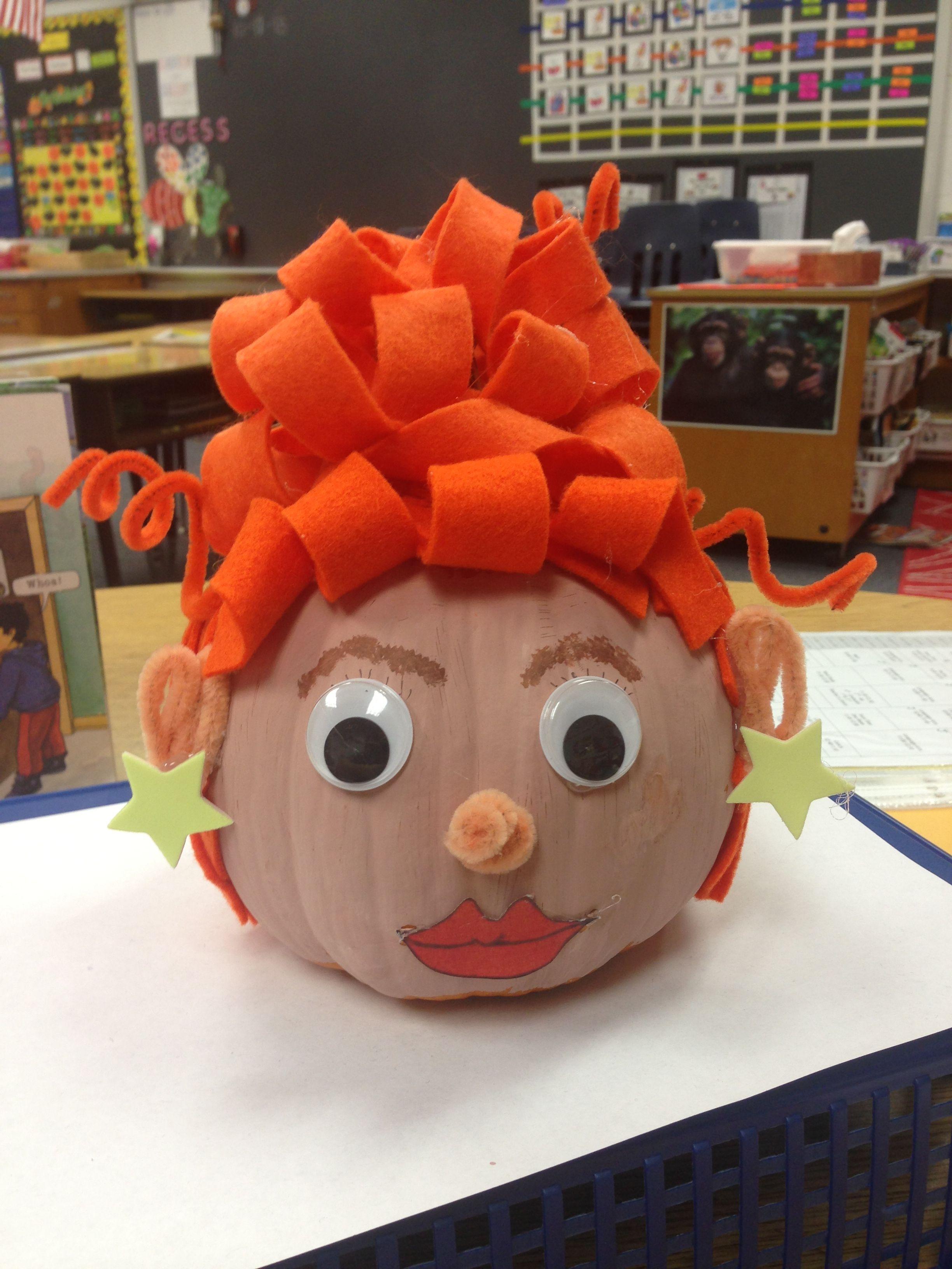Book Character Pumpkin Ms Frizzle Pumpkin Books Book Character Pumpkins Character Pumpkins