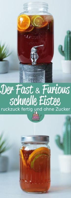 Der Fast and Furious schnelle Eistee