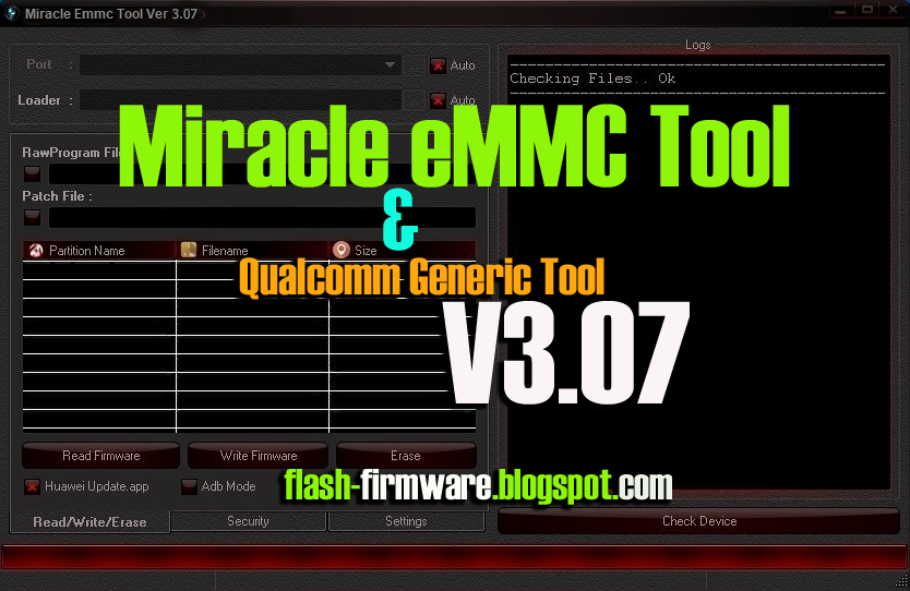 DownloadMiracle eMMC Tool & Qualcomm Generic Tool Feature: 1