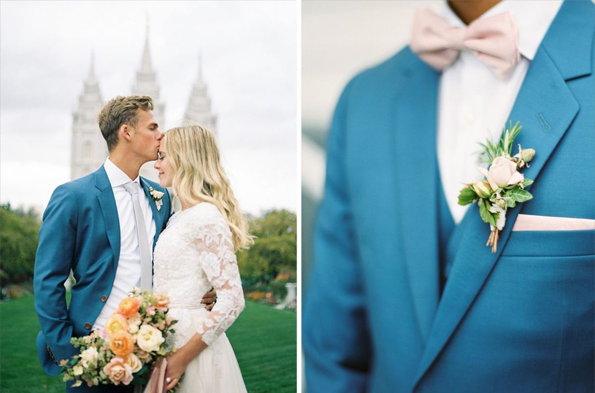 Groom Inspiration: Bright & Colourful Suits - Teal Groom Wedding ...