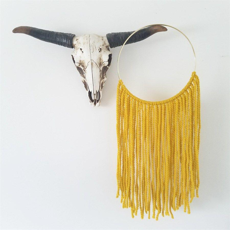 Boho Yarn Wall Hanging | Handmade | 5 Colors | Yarn wall hanging ...