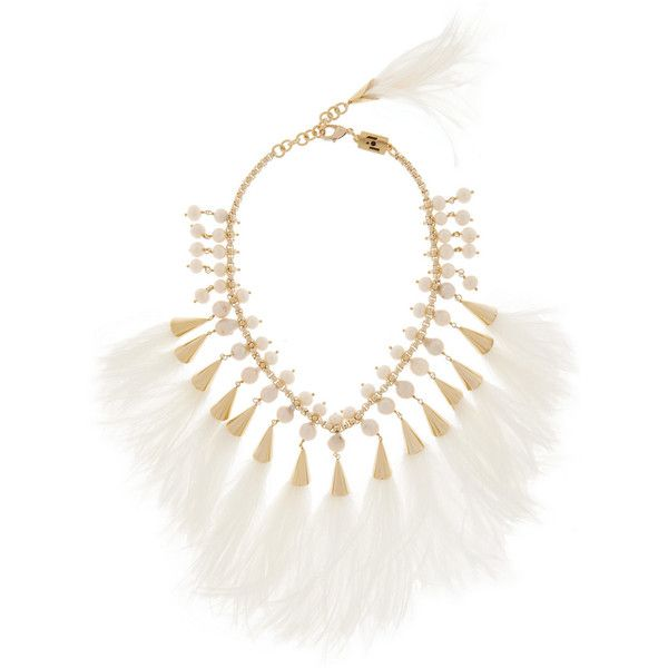 Gold Feather Necklace Rosantica