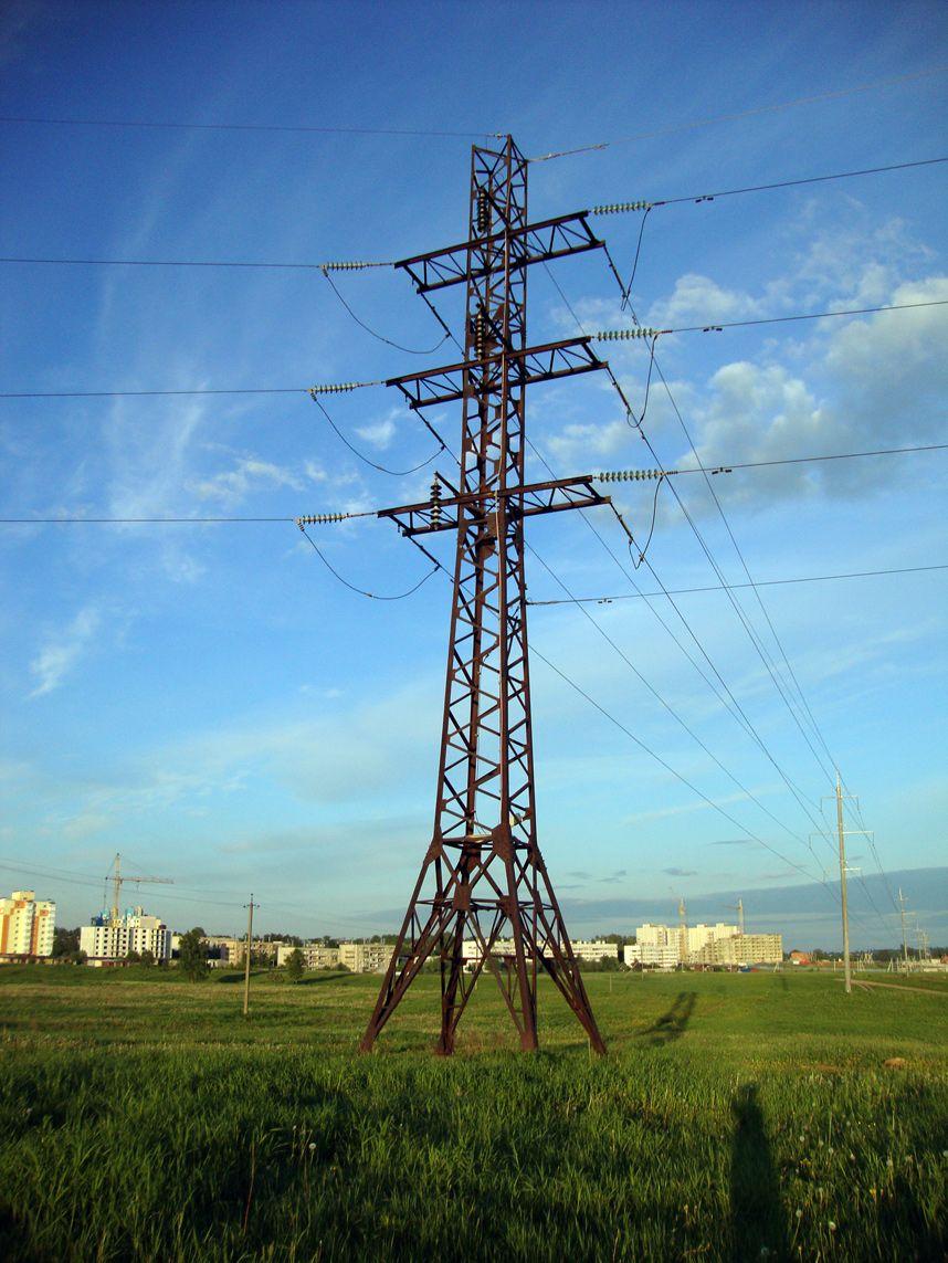 Transmission Tower 110 Kv In Staraya Leningrad Oblast Russia