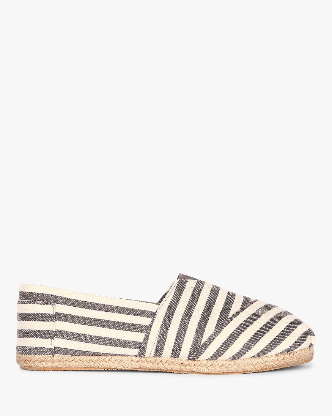Buy AJIO Women Grey \u0026 Off-White Striped
