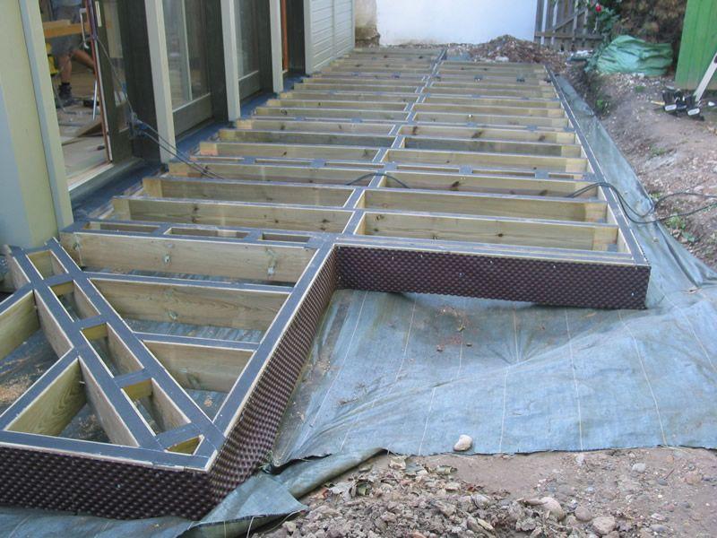 Chantier  Terrasse en bois cumaru - Lyon - FC TerrasseBois - construction terrasse en bois sur parpaing
