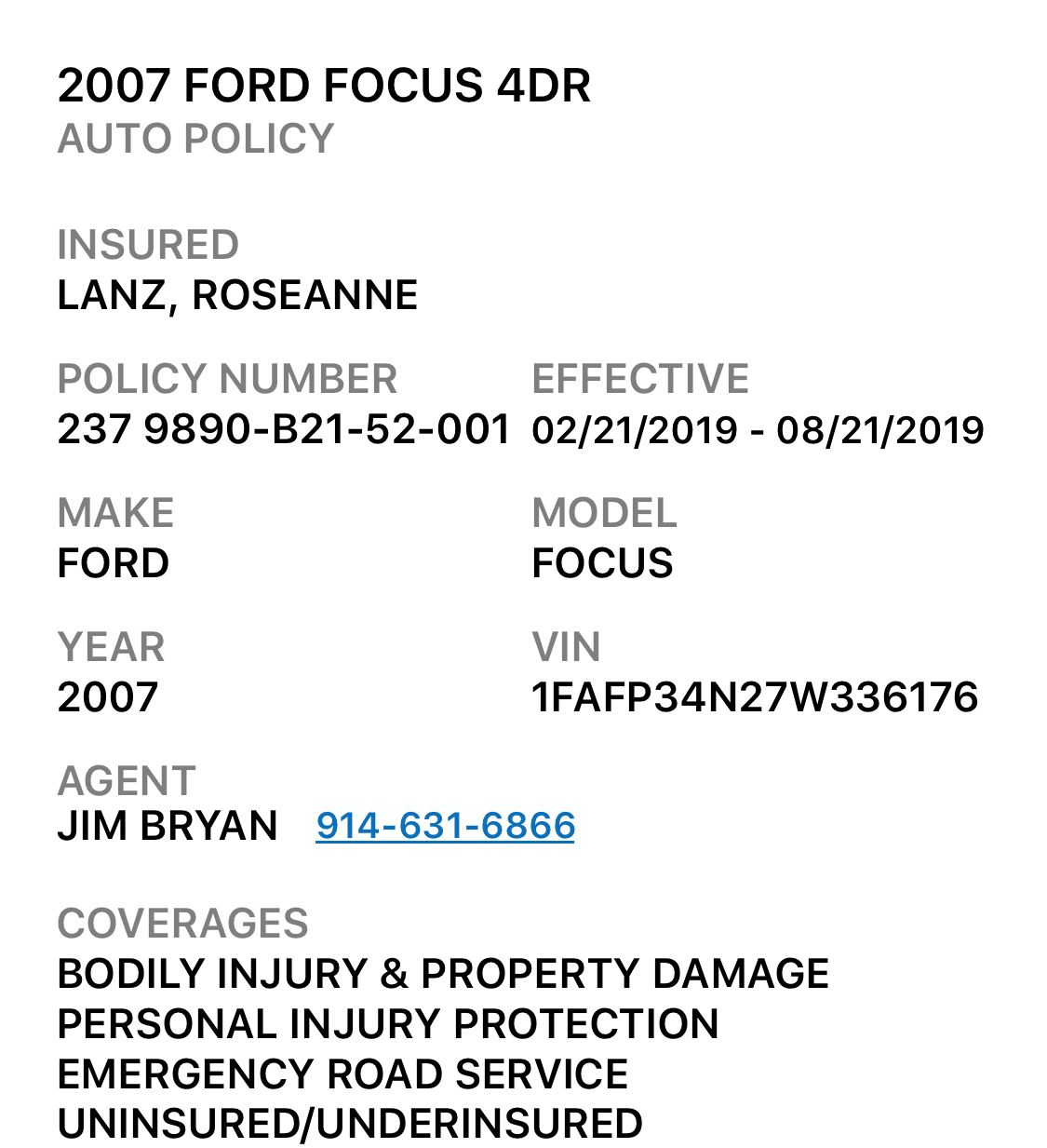 Your State Farm Insurance Card is attached. State farm