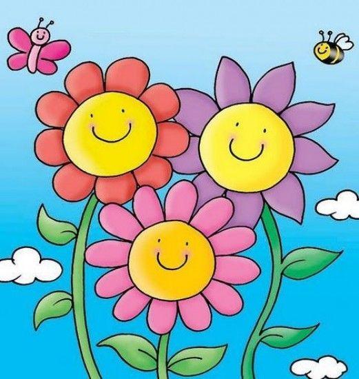 primavera | dibujos | Dibujos, Dibujos de flores y Laminas infantiles