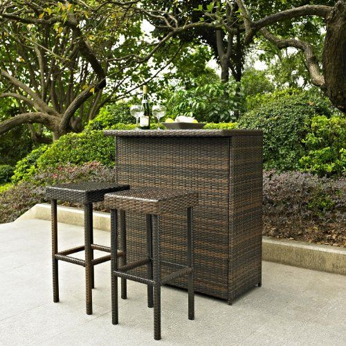 thomasville outdoor furniture 3 Pc Outdoor Wicker Bar Set