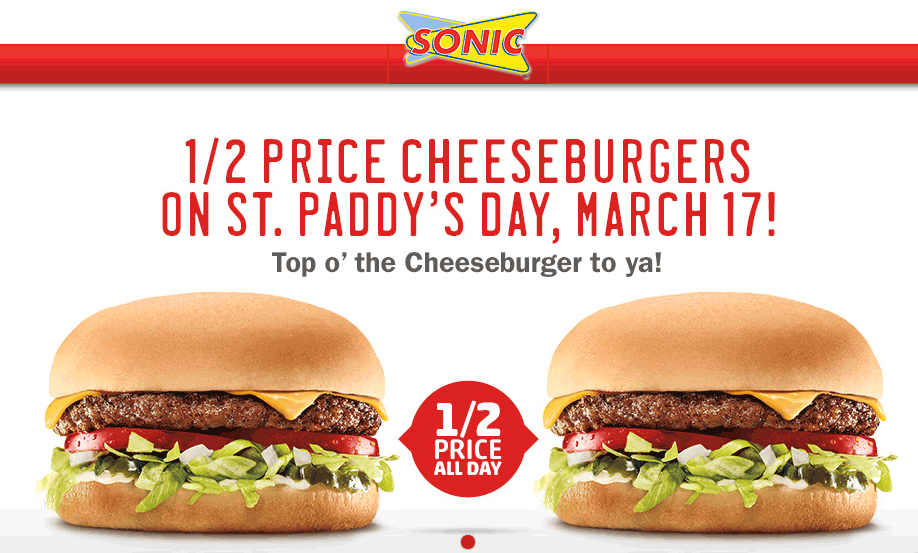 Sonic Drive In Deal Sonic Drive In Fast Food Reviews Cheeseburger