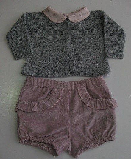 463102dbc Conjunto de jersey y pololo para niña de la colección Milosos de Baby Tous.  Jersey