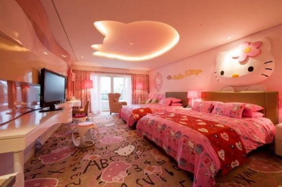 20 Cute Hello Kitty Bedroom Ideas Girl Bedroom Designs Hello
