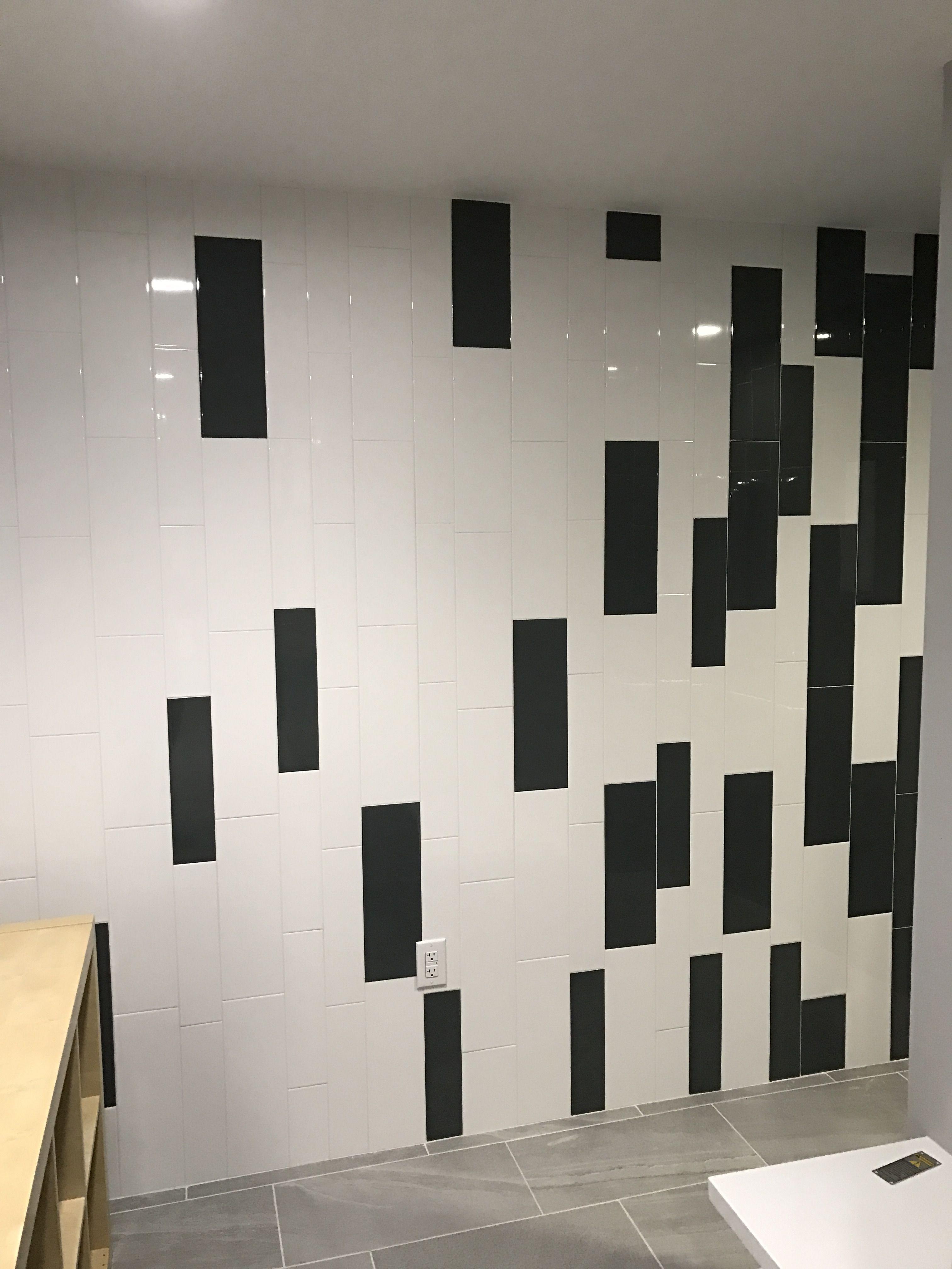 Large subway tile installed vertical daltile elevare el44 carbon large subway tile installed vertical daltile elevare el44 carbon el40 lunar size 6x18 dailygadgetfo Images