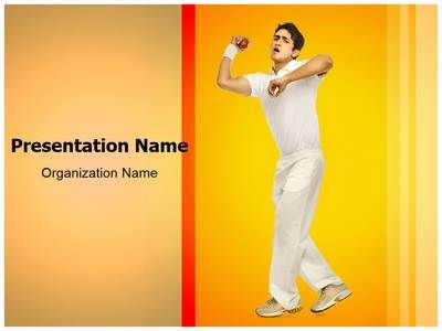 Cricket Bowler Powerpoint Template Is One Of The Best Powerpoint