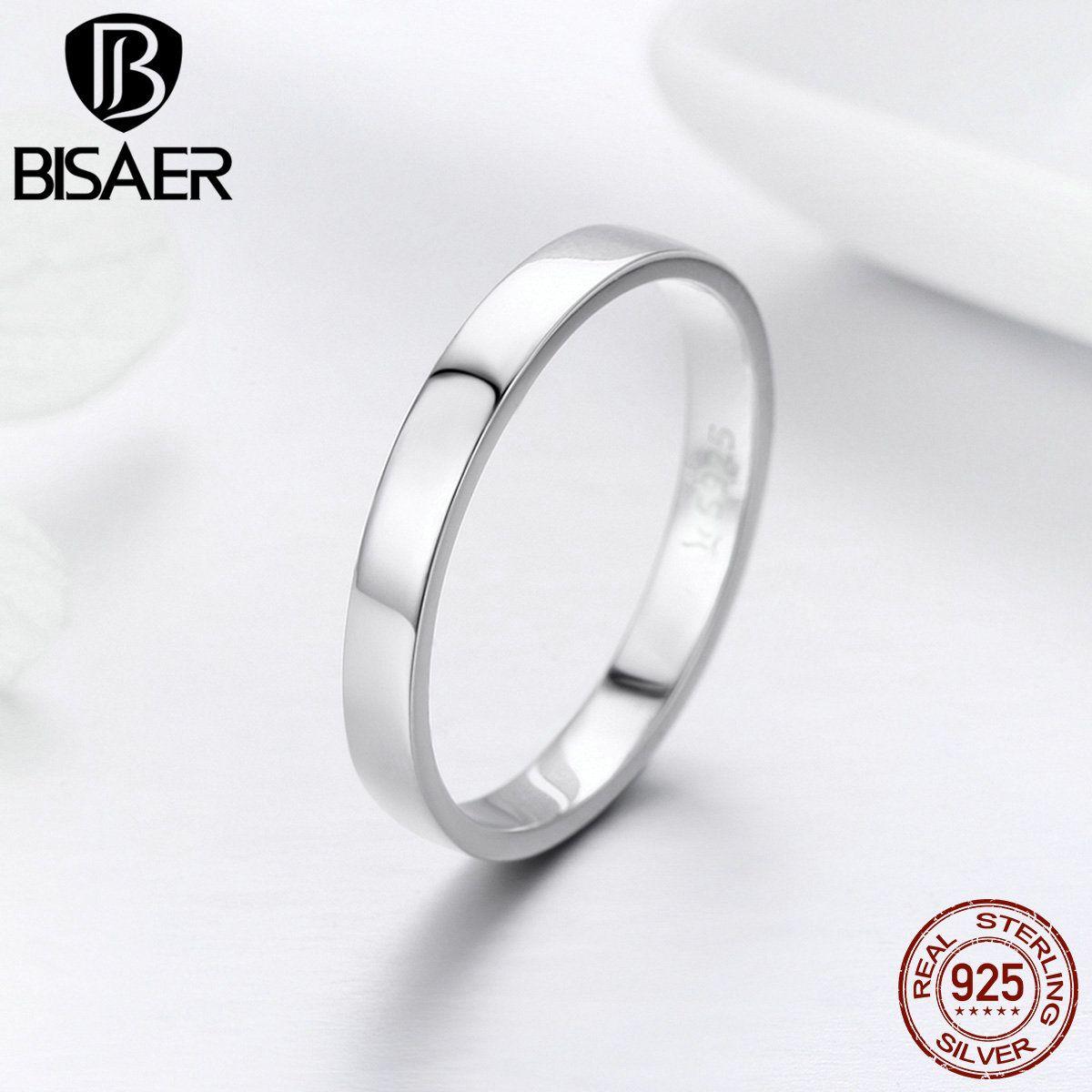 Genuine Simple Minimalist Engagement Finger Rings For Female Wedding