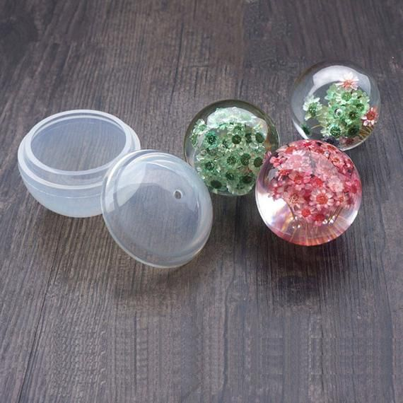 Round Ball Silicon DIY Molds Resin Jewelry Making Tools